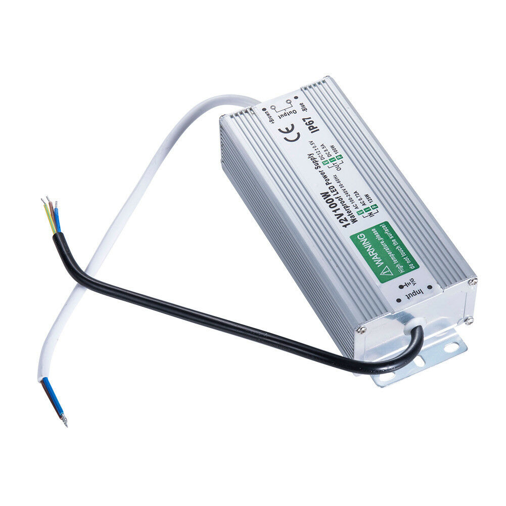 10x DC 12V 6.65A Transformer Power Supply Adapter LED Driver IP67 Waterproof 80W