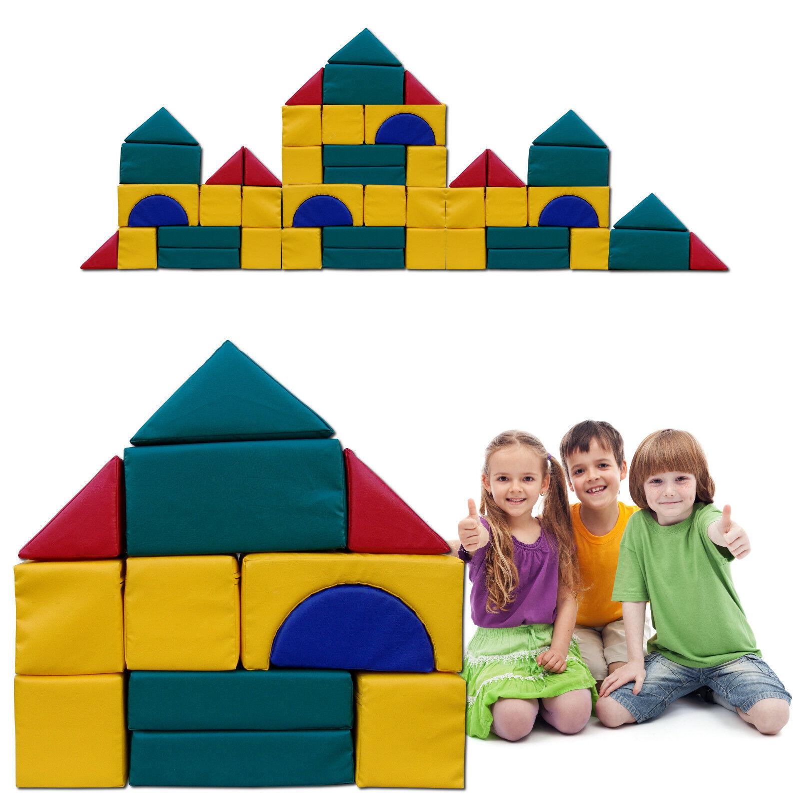 Großbausteine Kindergarten Kita Qualität Kunstleder-Bezug Reißverschluß Reißverschluß Reißverschluß 48 Teile 76e319