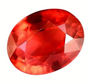 14.85 Ct Natural Fire Orange Sapphire CERTIFIED Sparkling Tanzania Gemstone