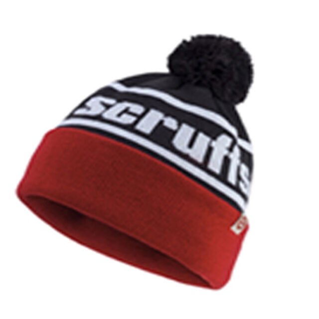 07f9cf7cc Scruffs Vintage Bobble Hat Thinsulate Red White and Black Men's Winter  Beanie