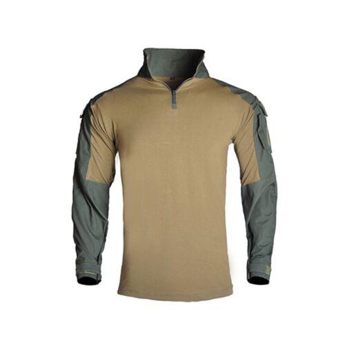 Hommes Combat T-Shirt à Manches Longues Camouflage Gen3 armée militaire tactique G3 Décontracté