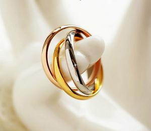 Anello-Fede-Fedine-Coppia-Paio-3-Anelli-in-uno-Acciaio-Donna-Cuore-Oro-Argento