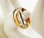 Anello-Fede-Fedine-Coppia-Paio-3-Anelli-in-uno-Acciaio-Donna-Cuore-Oro-Argento miniatura 1