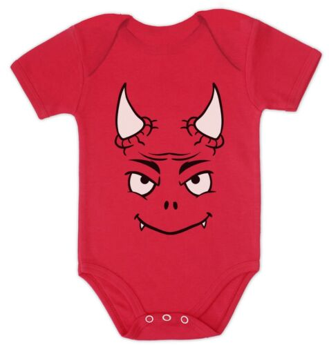 Halloween Easy Costume Cute Little Red Devil Baby Bodysuit Funny