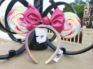 Disney Parks Mickey Minnie Mouse Lollipop Ears Headband NEW