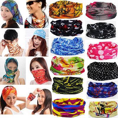 Multi Purpose Face Mask Snood Bandana Neck Outdoor Warmer Headwear 67 Colors