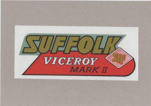 Suffolk Viceroy Mark II Vintage Mower Repro Decal