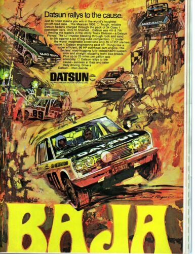 Datsun Baja Vehicle Promotion Poster