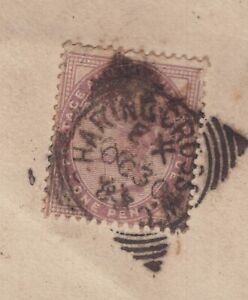 UK-1883-squared-circle-cancel-on-QV-cover-Royal-Colonial-Institute-logo-on-back