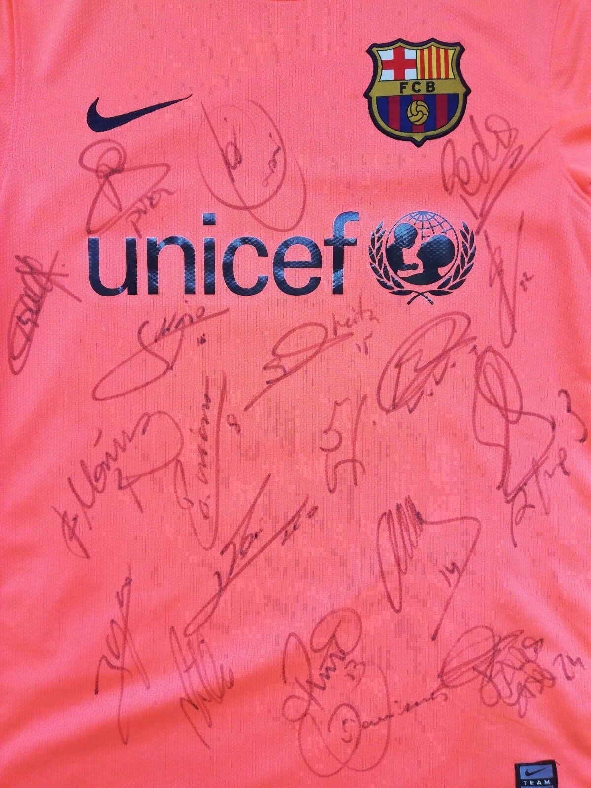 Barcelona 2009 10 signed oficial shirt maglia Ibrahimovic Messi Henry Guardiola