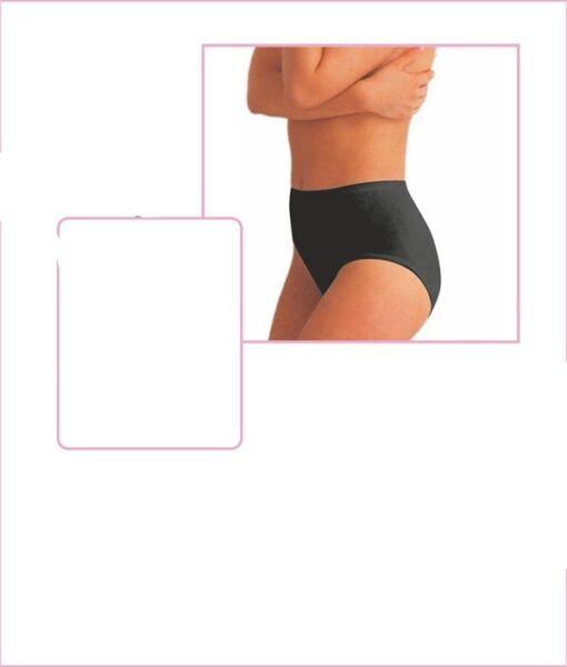 9 Stück Damen SLip mit 95% Baumwolle5% Elasthan Gr 40/42 -56/58FarbeSchwarz/Weiß