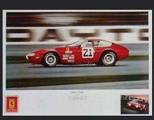 Ferrari Daytona at Speed 1973 Signed Car Poster Extremely Rare!