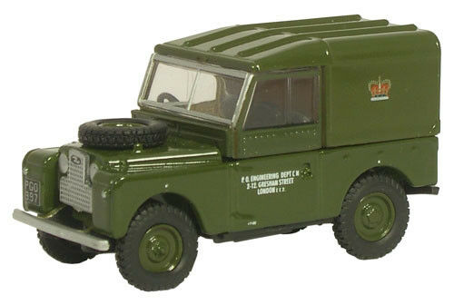 Oxford 76LAN188006 00 PKW Land Rover 88 Post Office Telephones green