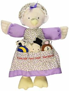 North American Bear Co. Mother Goose Doll Cloth Dolly Pockets Cream Purple NEW