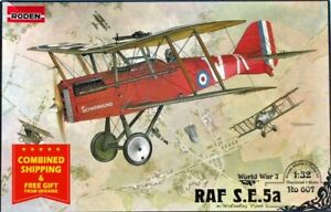 Roden-607-1-32-RAF-SE5A-w-Wolseley-Viper-British-fighter-WWI-plastic-model