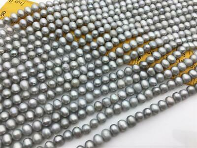 Rice 5-6mm Diam Tacool Natural Genuine Freshwater Cultured Pearl Free Size Jewelry Making Loose Beads