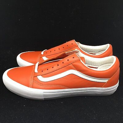 Vans Vault Old Skool VLT LX Italian Leather Mens Orange Mango VN0A3MUWR2V NIB | eBay