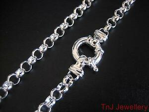 Genuine-Solid-925-Sterling-Silver-Round-Belcher-Bracelet-With-A-Euro-Bolt-Ring