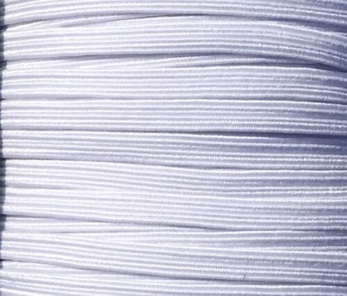 Con Cable Elástica Plana Negro O Blanco 6 Cable confección pretinas sastrería 4 mm