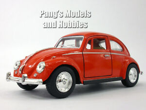 Volkswagen-VW-1967-Classic-Beetle-1-32-Scale-Diecast-Metal-Model-RED