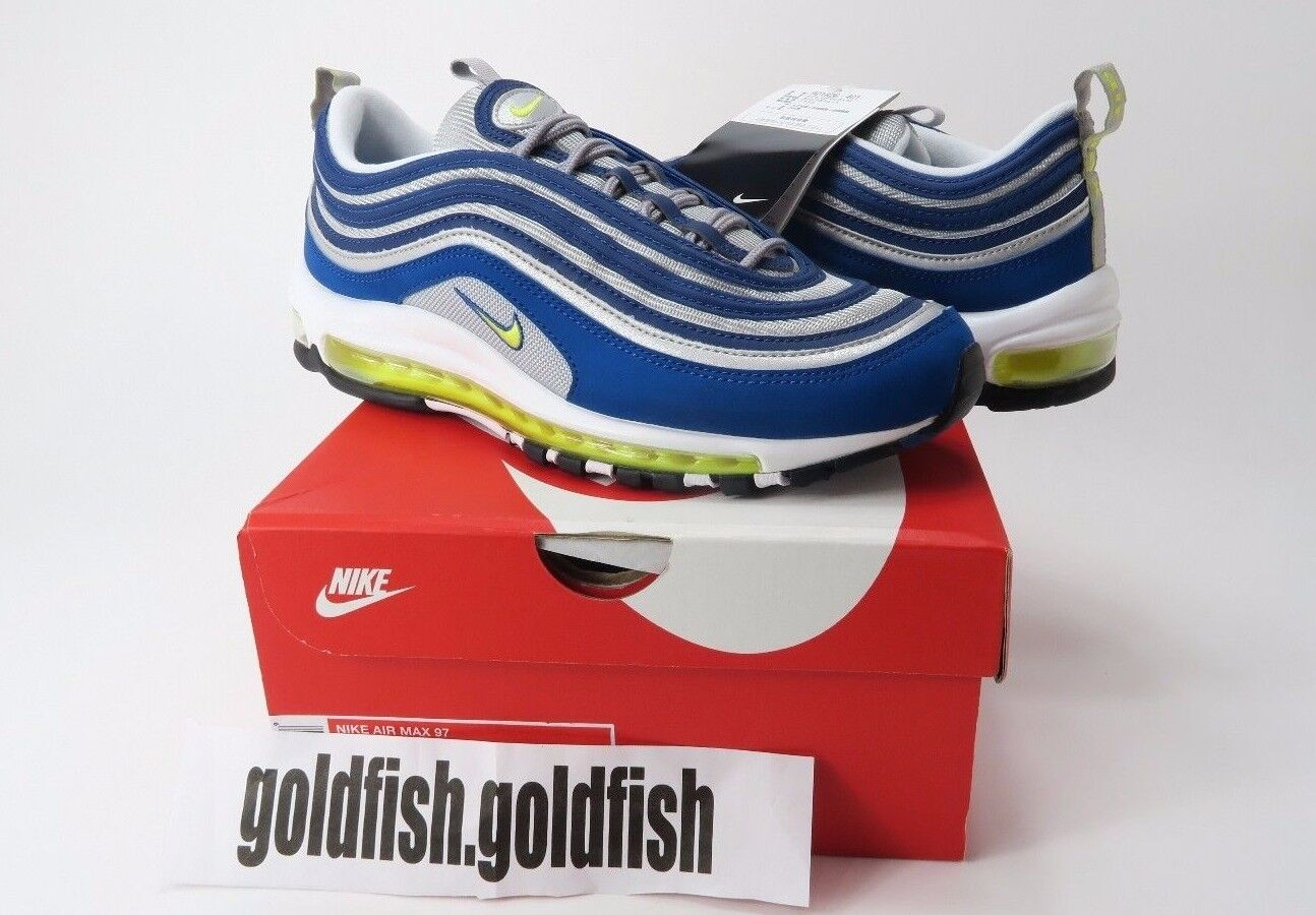 DS NIKE AIR MAX 97 QS 921826 401 ATLANTIC blueE VOLTAGE YELLOW