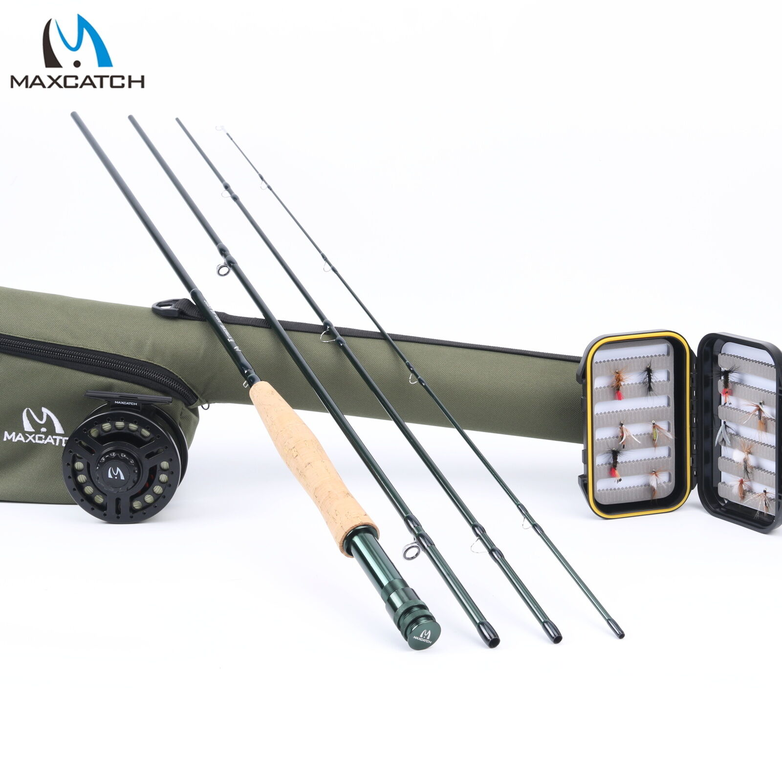 5WT Fly Fishing Combo 9FT Medium-fast Fly  Rod Graphite Reel Line Triangle Tube  hot sale