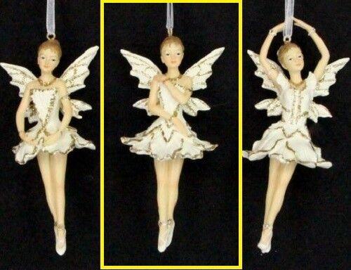 Gisela Graham Fée Ballerine Or Crème Arbre de Noël Décoration fées