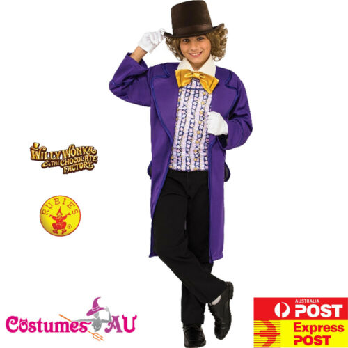 Child Willy Wonka Costume Kids Boys Charlie And The Chocolate Factory Roald Dahl