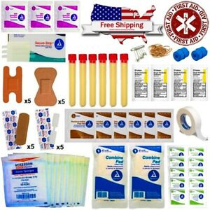 BLOOD CLOT POWDER SURVIVAL PREPPING FIRST AID KIT TACTICAL TRAUMA PACK FAMILY