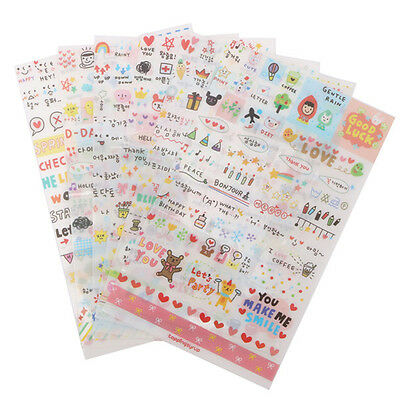 6 Sheet Fashion Calendar Paper Sticker Scrapbook Calendar Diary Planner Decor