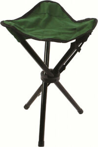 Green-Compact-3-Leg-Tripod-Fishing-Camping-Stool-Shooting-Decoying-Hide-Seat