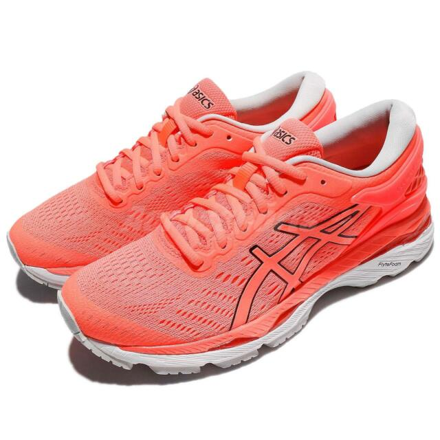 Asics Gel-Kayano 24 Flash Coral White Women Running Shoes Sneakers T799N-0690
