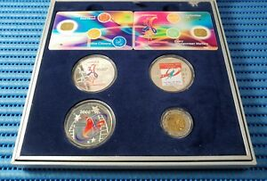 Singapore NDP 35, 36 & 37 Years of Independence Silver Medallion & 2000 $5 Coin