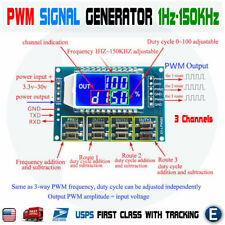 Signal Generator Pwm Pulse Frequency Adjustable Module Lcd Display 3 Channels