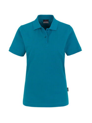 Farbe petrol Größe M Hakro Damen-Poloshirt Top