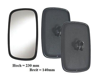 2 x Außen Spiegel Rückspiegel für LKW Trecker Bus Schlepper E20 232 x 145mm Ø8mm