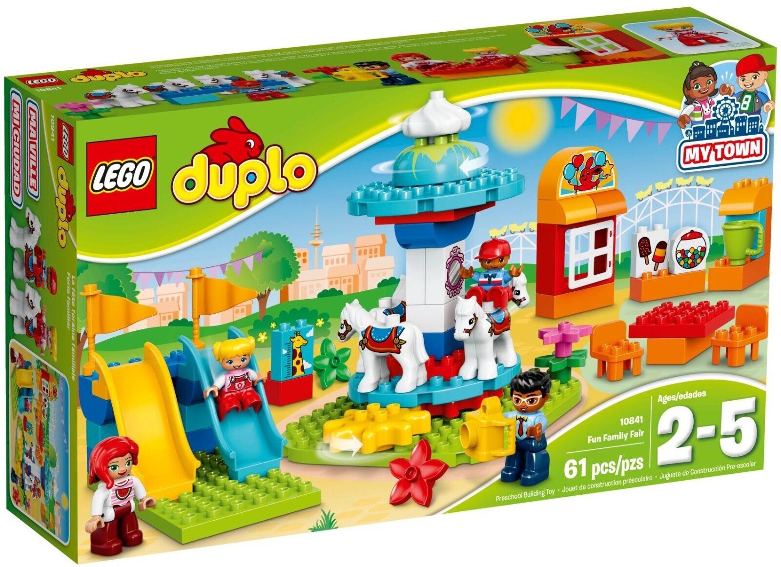 LEGO ® DUPLO ® 10841 foire Nouveau neuf dans sa boîte _ FUN Family FAIR NEW En parfait état, dans sa boîte scellée Boîte d'origine jamais ouverte