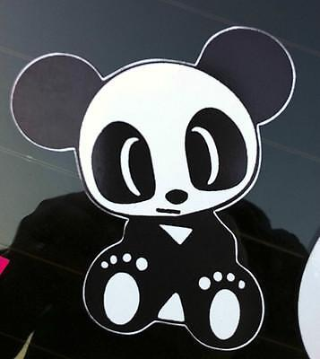 CUTE PANDA vinyl bumper sticks to laptop tablet window door decal colour sticker