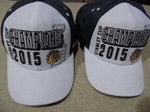 01a54517abeb2 NHL Chicago Blackhawks Stanley Cup Champions Hat Cap Reebok Locker ...