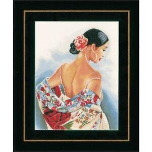 Punto-Cruz-Kit-de-Bordado-034-Bufanda-con-Motivos-Flores-034-37x48-Cm-Hilo-LNPN0154992