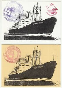 Details about Russia: 2 Antarctic Related Postcards, with NZ Wellington  Packet Boat