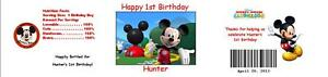 25-Mickey-Mouse-Clubhouse-Birthday-Water-Bottle-Label-Favor-Waterproof