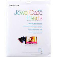 Memorex Jewel Case Inserts 50pack 1 Pack