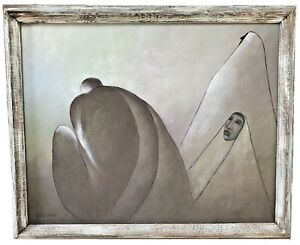 GUSTAVO-MARTINEZ-MEXICAN-1941-MODERNIST-LARGE-OIL-ON-CANVAS