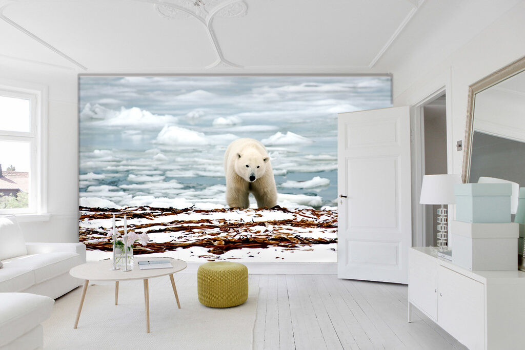 3D Snow Polar Bear 882 Wall Paper wall Print Decal Wall Deco Indoor wall Mural