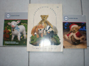 Lot De 3 Catalogues Peluches Steiff Dont 1 De 1994