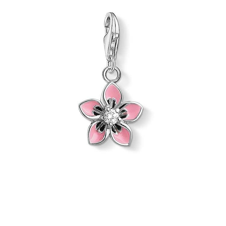 Genuine Thomas Sabo Charm Club Pink Flower Charm CC1354