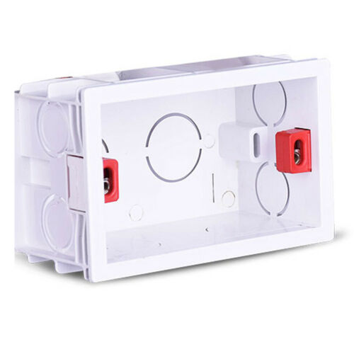 Internal Mounting Box Back Cassette Replacement for Standard Wall Switch Socket
