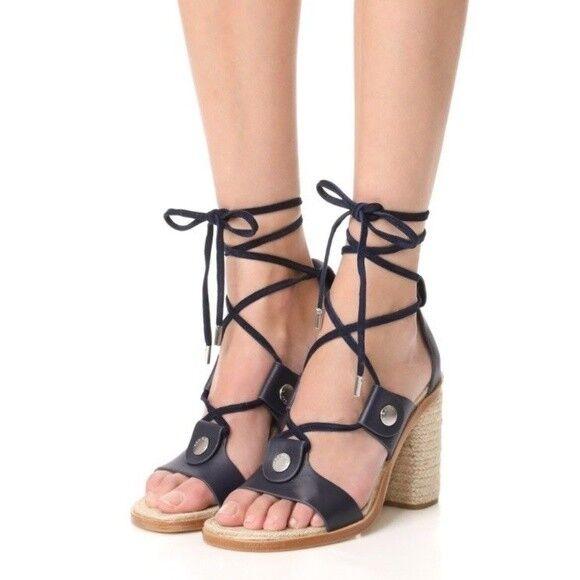 Rag and Bone Eden Women's Navy Lace Up Sandal Sz 40 10 NIB  450.00