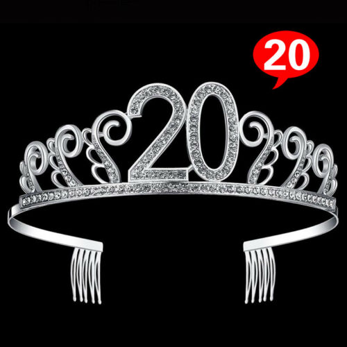 Exquisite Birthday Tiara Headwear Rhinestone Crystal Princess Crown Style Women